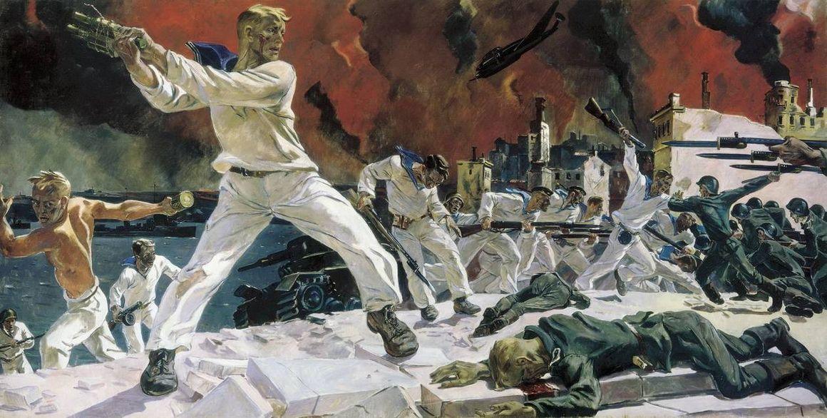 Александр Александрович Дейнека. Оборона Севастополя. 1942