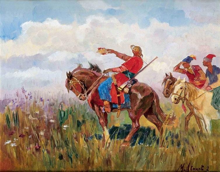 Михаил Авилов. Тарас Бульба с сыновьями. 1922