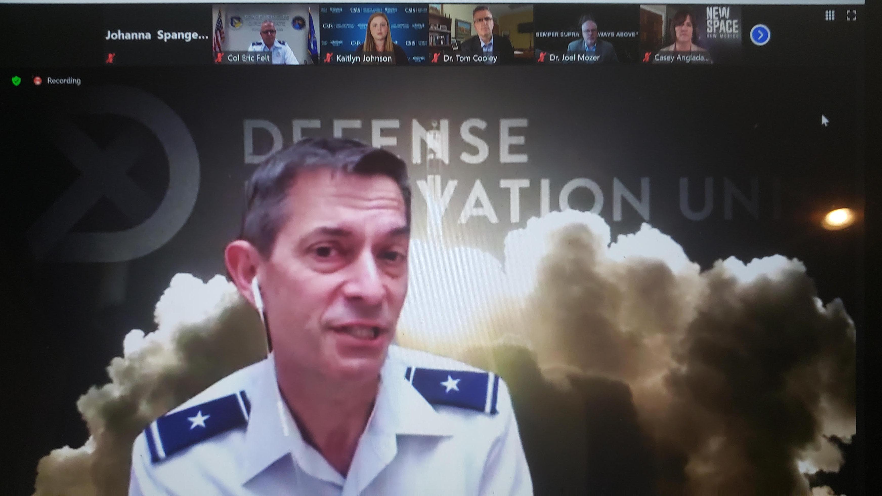 Скриншот обсуждения доклада «Состояние космической промышленной базы 2020», Подразделение оборонных инноваций (DIU) при Министерстве обороны США