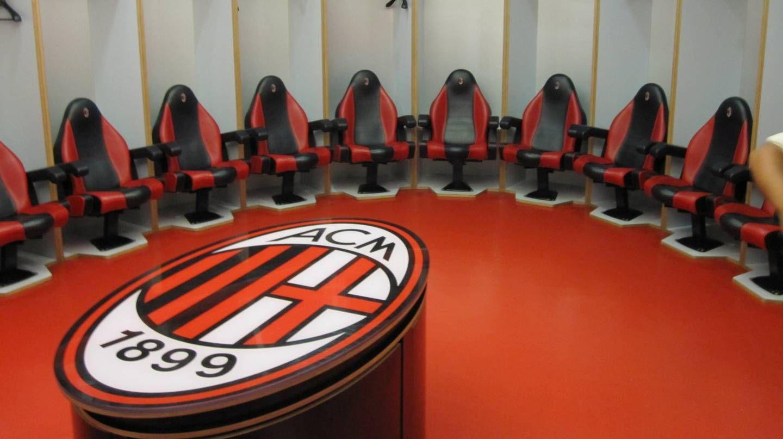 Раздевалка футбольного клуба «Милан»