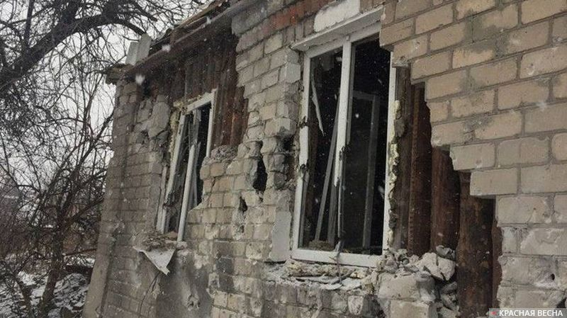 ДНР. Последствия артобстрела