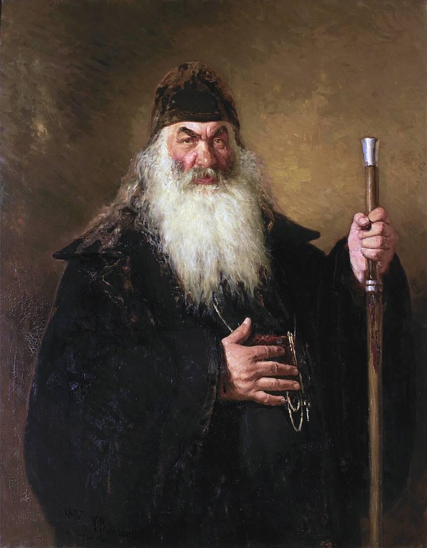 Илья Репин. Протодиакон. 1877