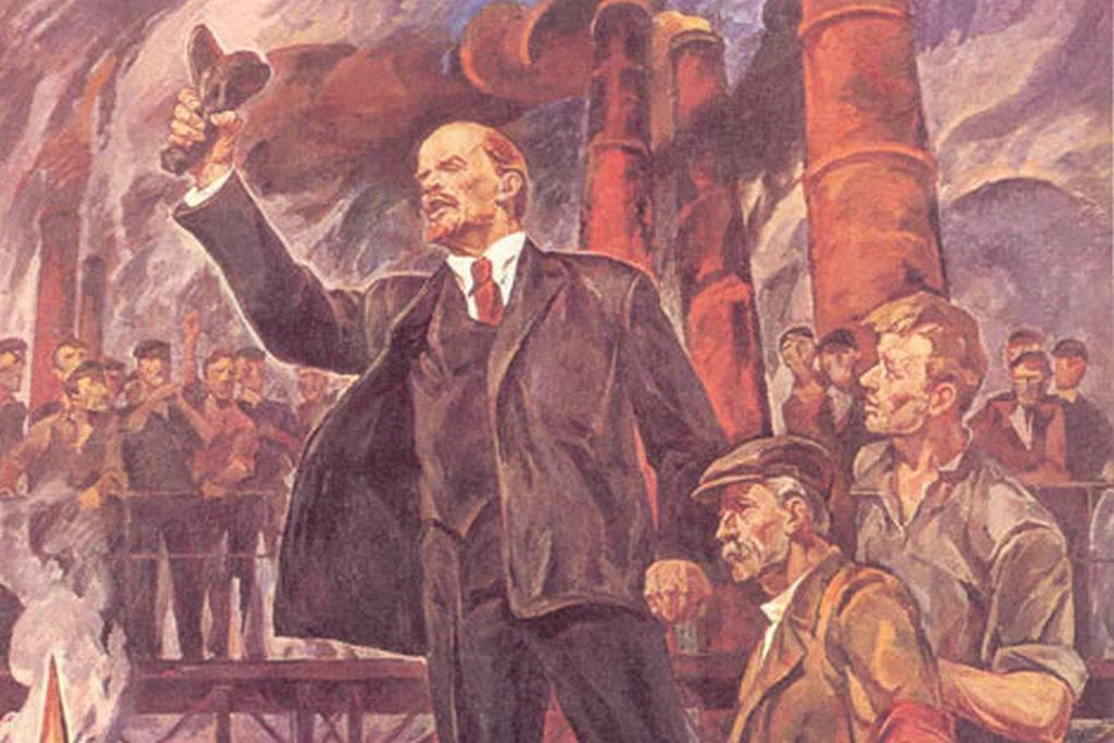 Константин Филатов. В.И. Ленин на одном из петроградских заводов (фрагмент)