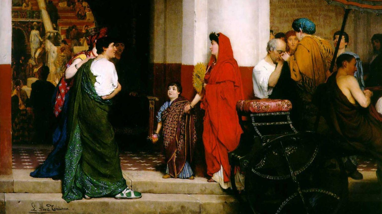 Лоуренс Альма-Тадема. Вход в римский театр (фрагмент). 1866