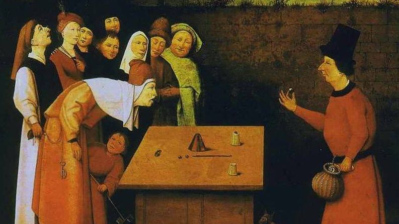 ероним Босх. Фокусник. 1502.
