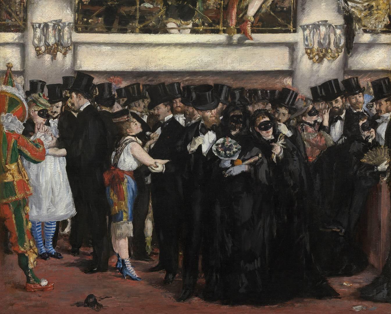 Эдуар Мане. Бал-маскарад в опере. 1873