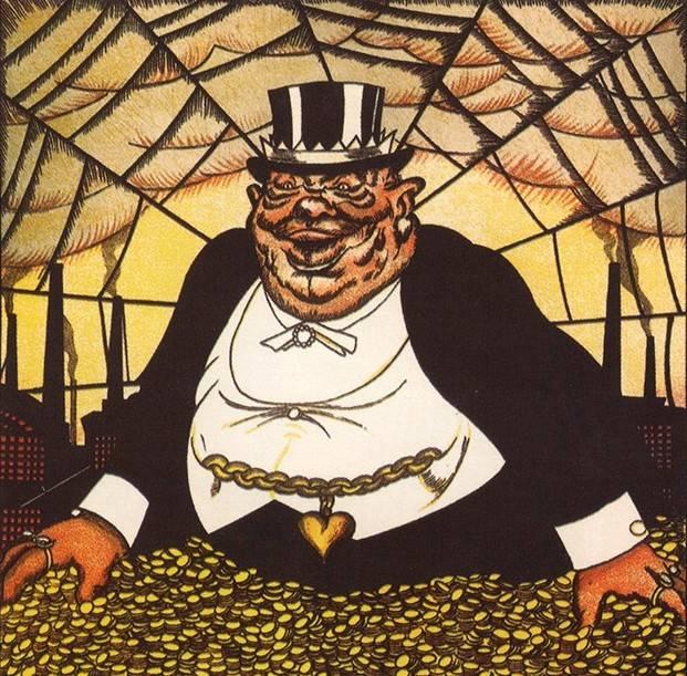 Капитал (фрагмент). Советский плакат