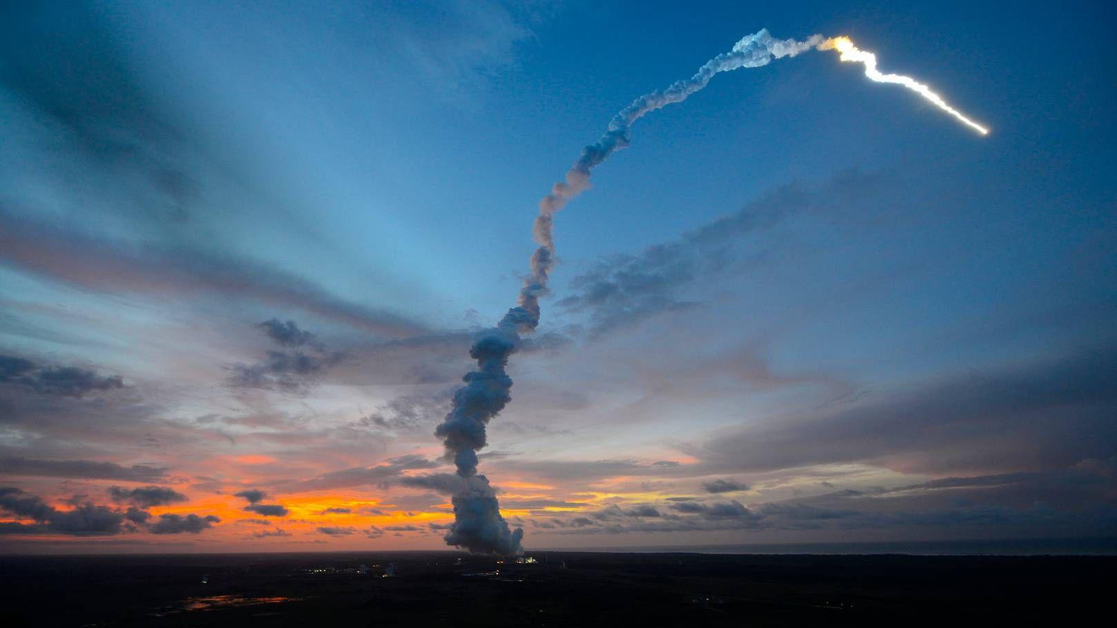Запуск ракеты Ariane 5