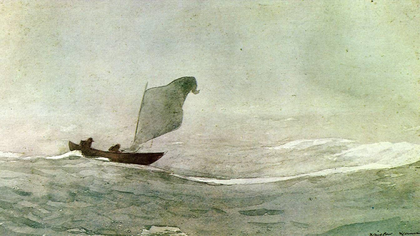 Уинслоу Хомер. Гонимый ветром. 1888
