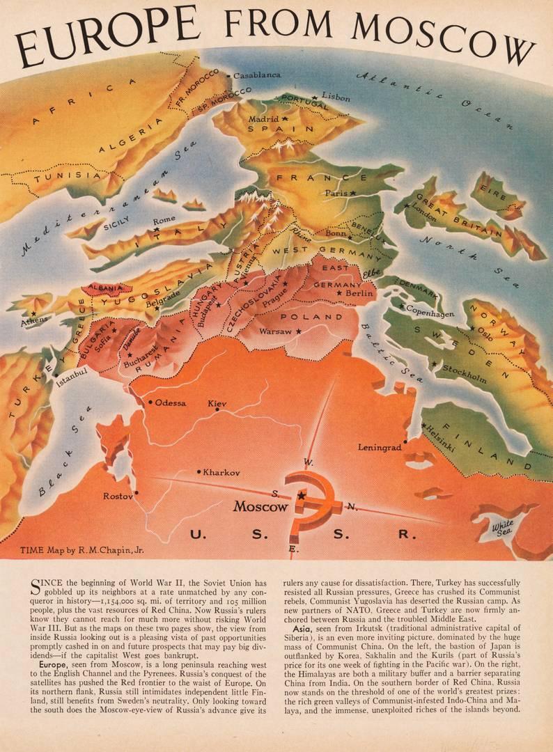 Р. М. Чапин. Вид на Европу из Москвы. 1952