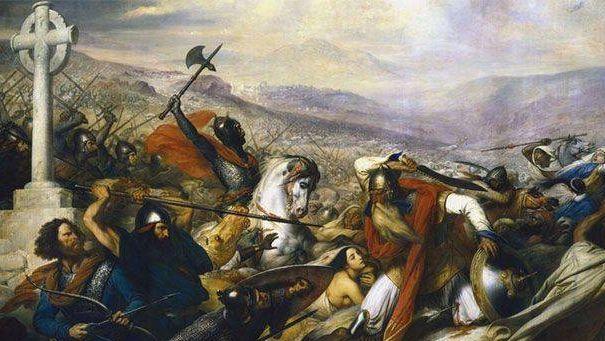Карл Мартелл в битве при Пуатье. Карл Карлович Штейбен