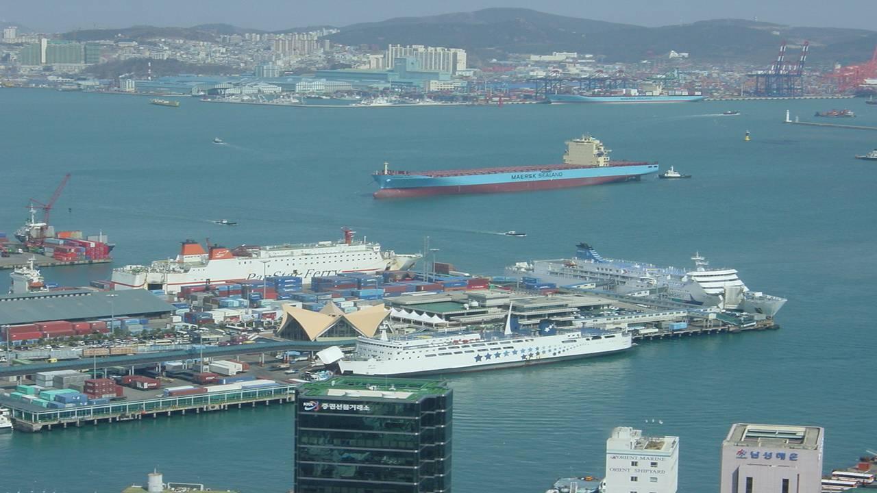 Порт Пусан.Южная Корея