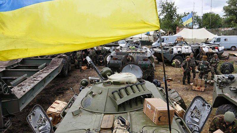 Украинские солдаты в Донбассе