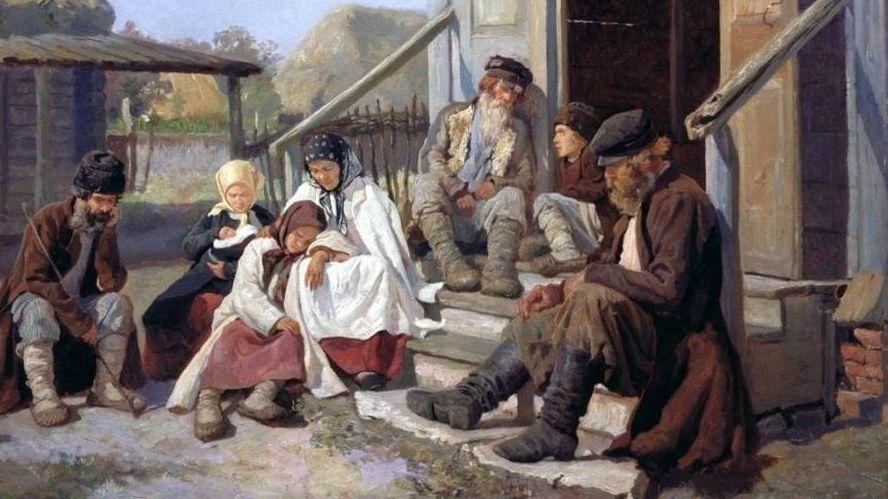 Николай Загорский. У фельдшера в ожидании приёма, 1886