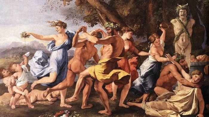 Никола Пуссен. Вакханалия перед статуей Пана. 1663