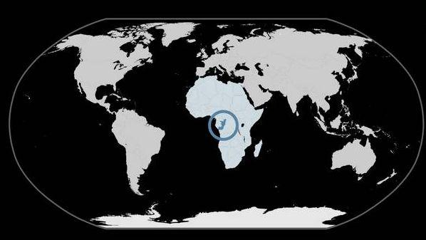 Республика Конго на карте