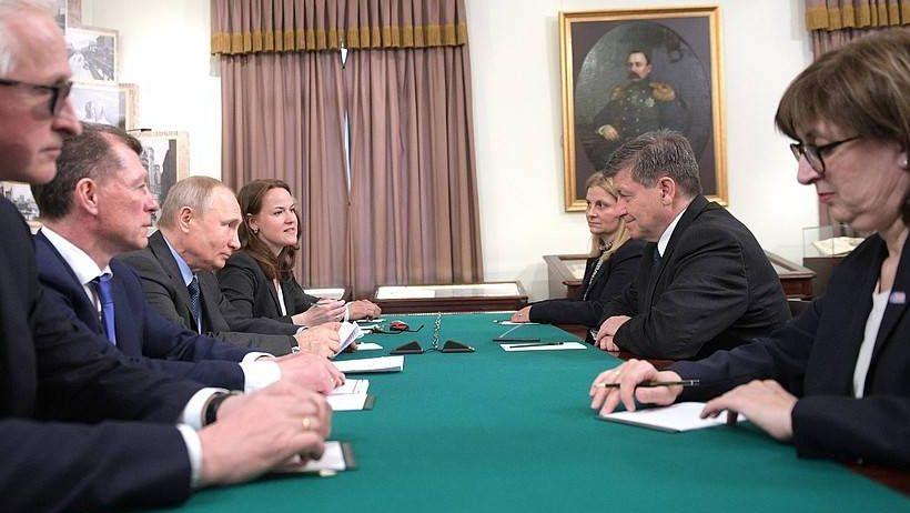 Встреча Владимира Путина с генеральным директором Международной организации труда Гаем Райдером