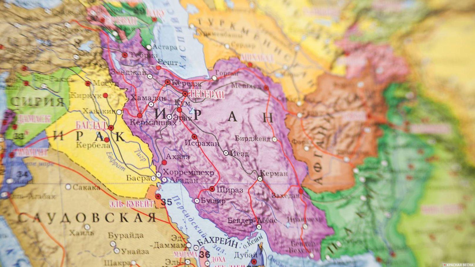 Иран - Ирак. Карта мир