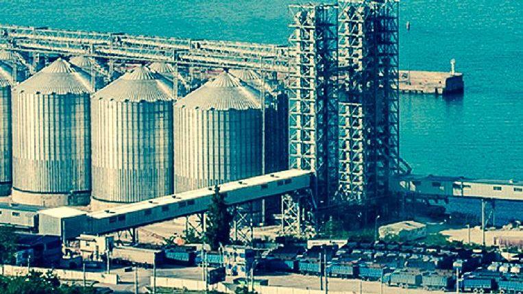 Зерновой терминал в Новороссийске
