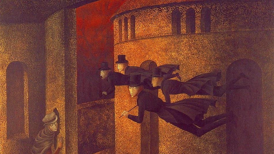 Ремедиос Варо. Полёт банкиров. 1962