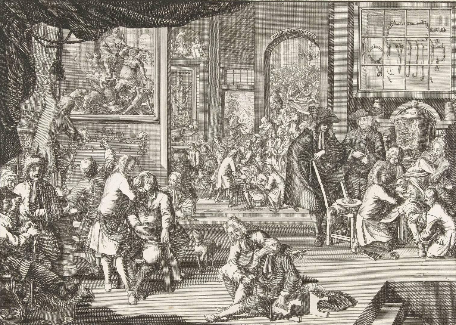 Авраам Зееман. Рабочее место гильдии хирургов. 1731