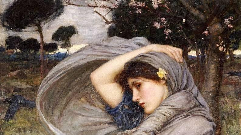 Джон Уотерхаус. Северный ветер (фрагмент). 1903