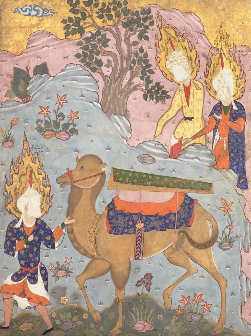 Гроб имама Али. Иллюстрация из Фалнамы. Середина 1550 — начало 1560-х