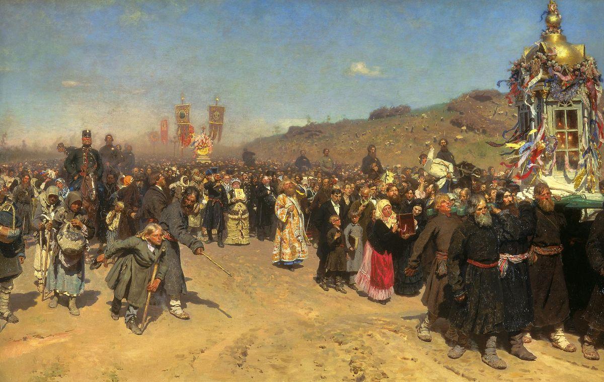 Репин Илья. Крестный ход в Курской губернии. 1883
