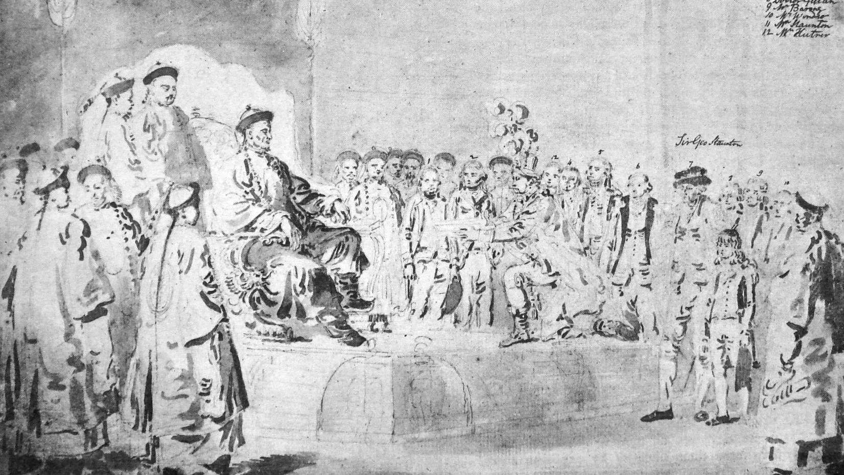 Александр Уильям. Приём у китайского императора. 1793 год