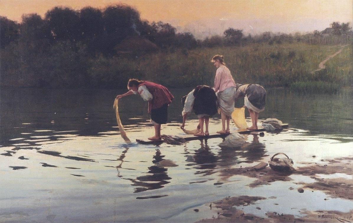Николай Корнилович Пимоненко. На речке. 1905
