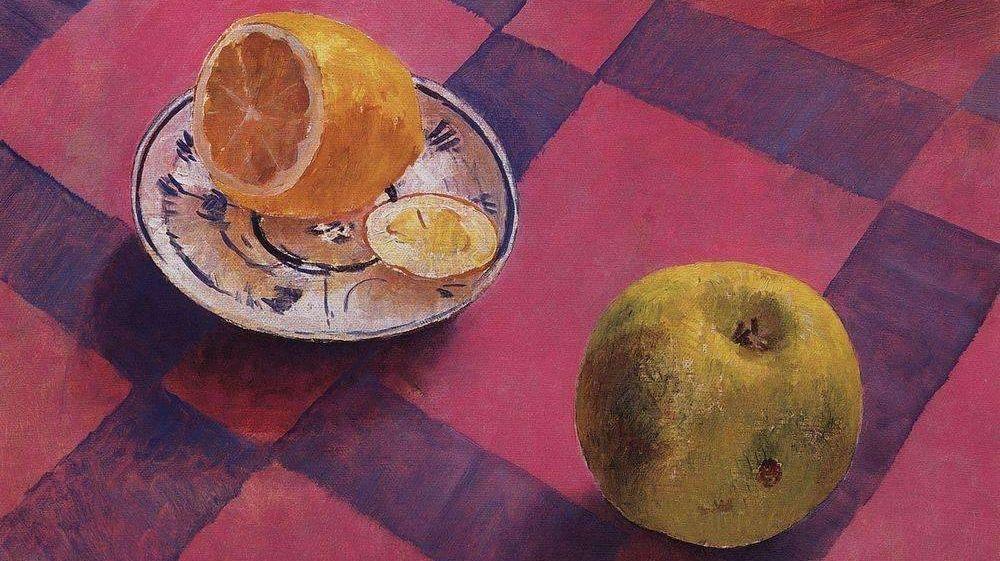 Кузьма Петров-Водкин. Яблоко и лимон (фрагмент). 1930