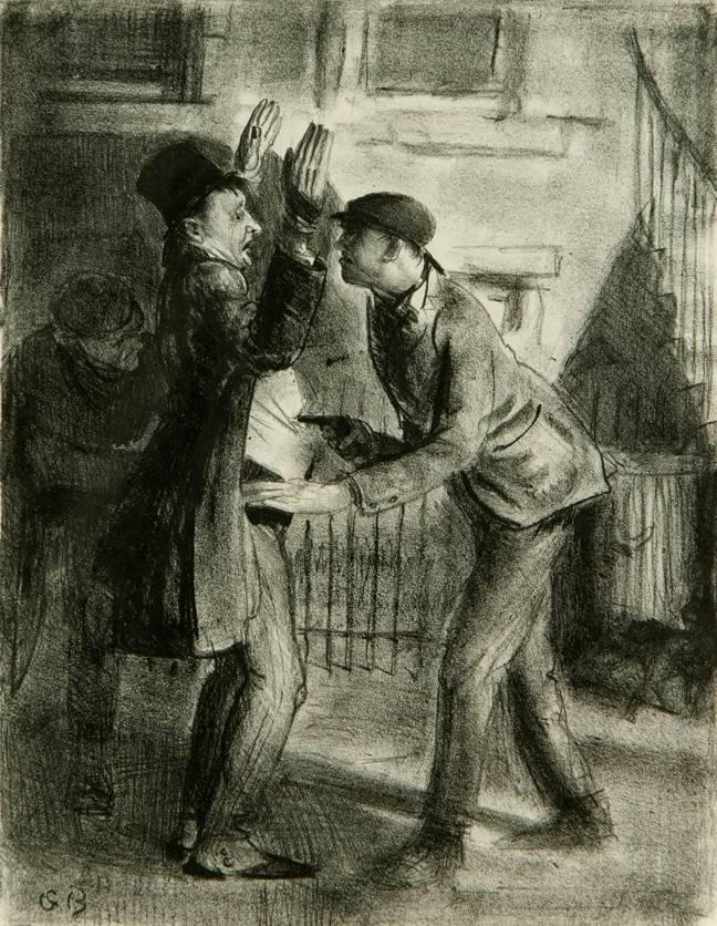 Джордж Уэсли Беллоуз. Ограбление. 1921