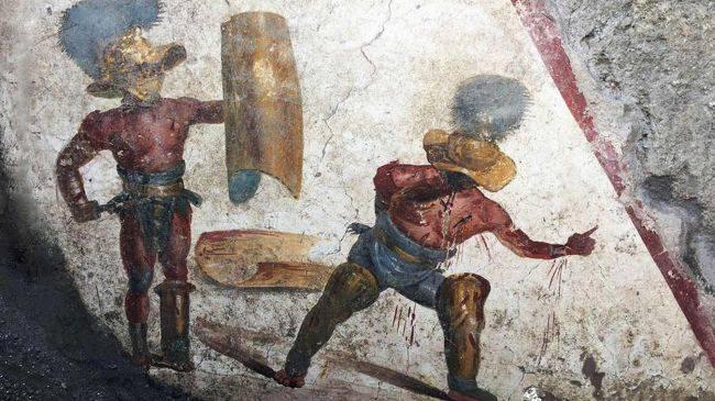 Фреска с гладиаторами