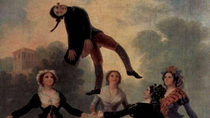 Франсиско де Гойя. Марионетка (фрагмент). 1791