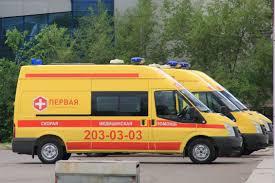 Машины скорой помощи на стоянке