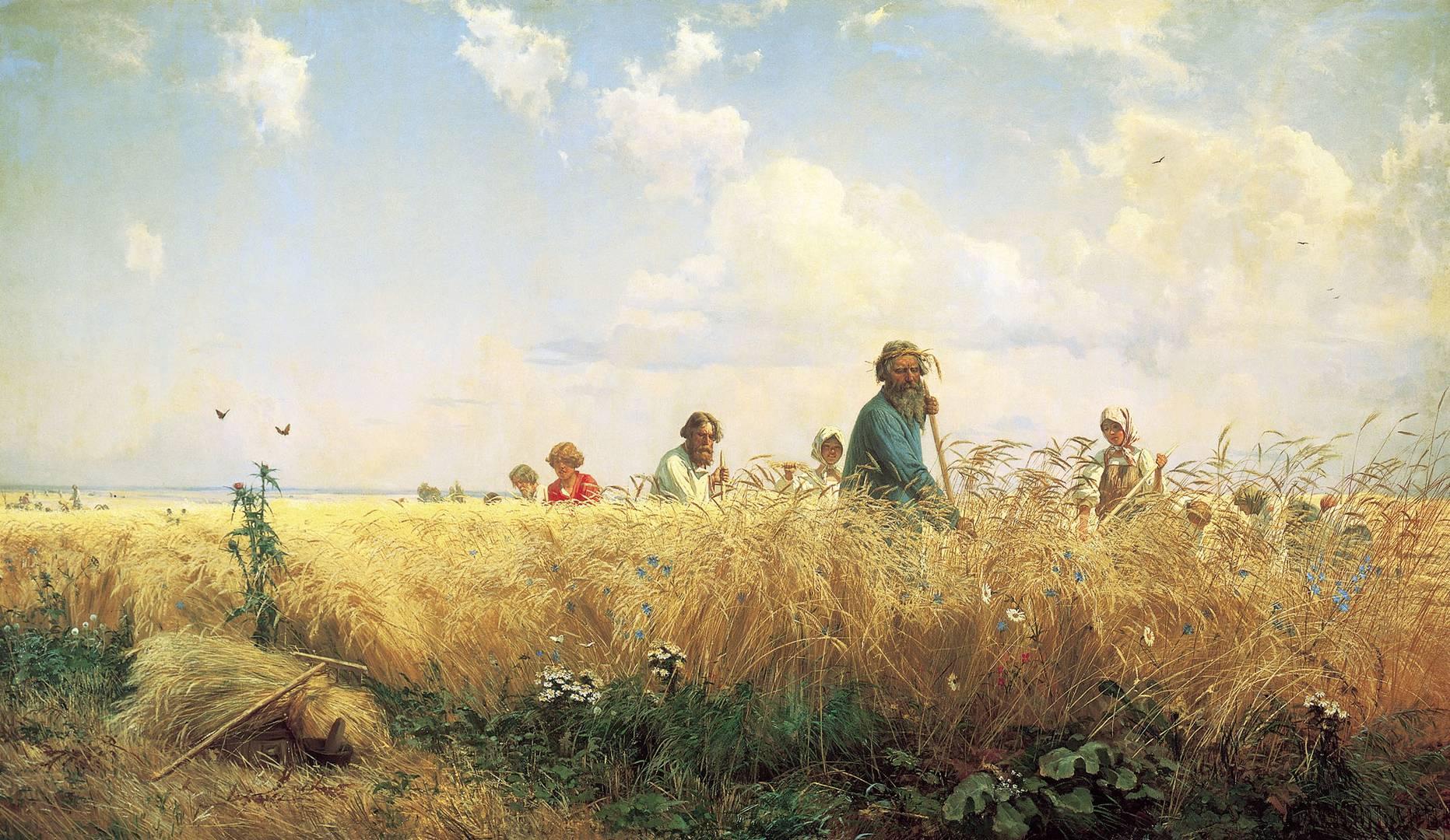Григорий  Мясоедов. Страдная пора (Косцы). 1887