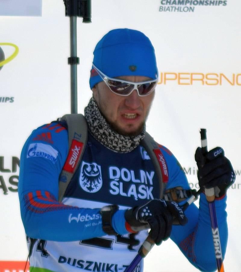 Российский биатлонист Александ Логинов