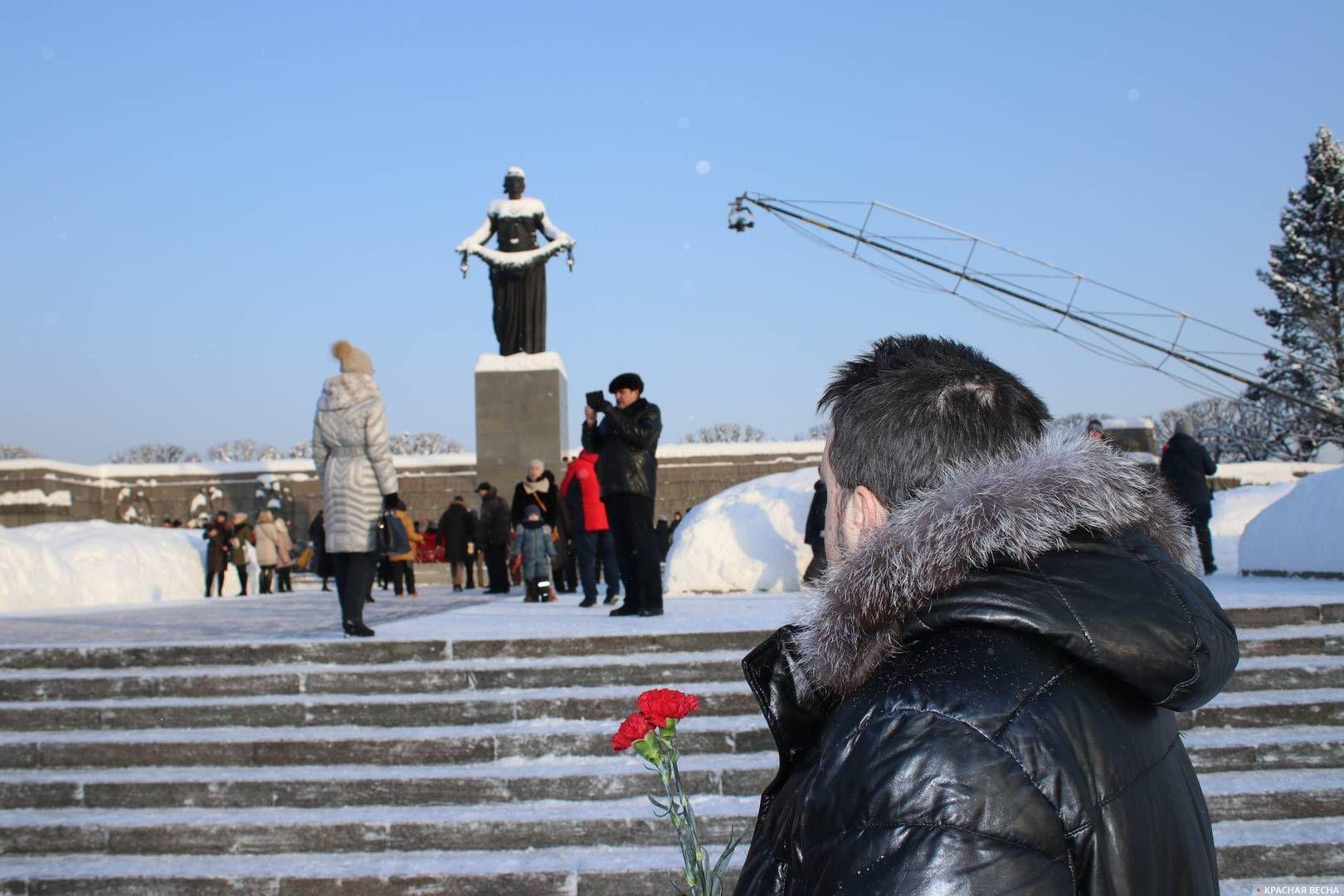 На Пискарёвском мемориальном кладбище. 27.01.2019