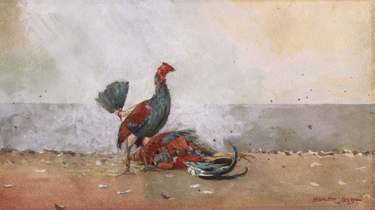 Уинслоу Хомер. Петушиный бой. 1885