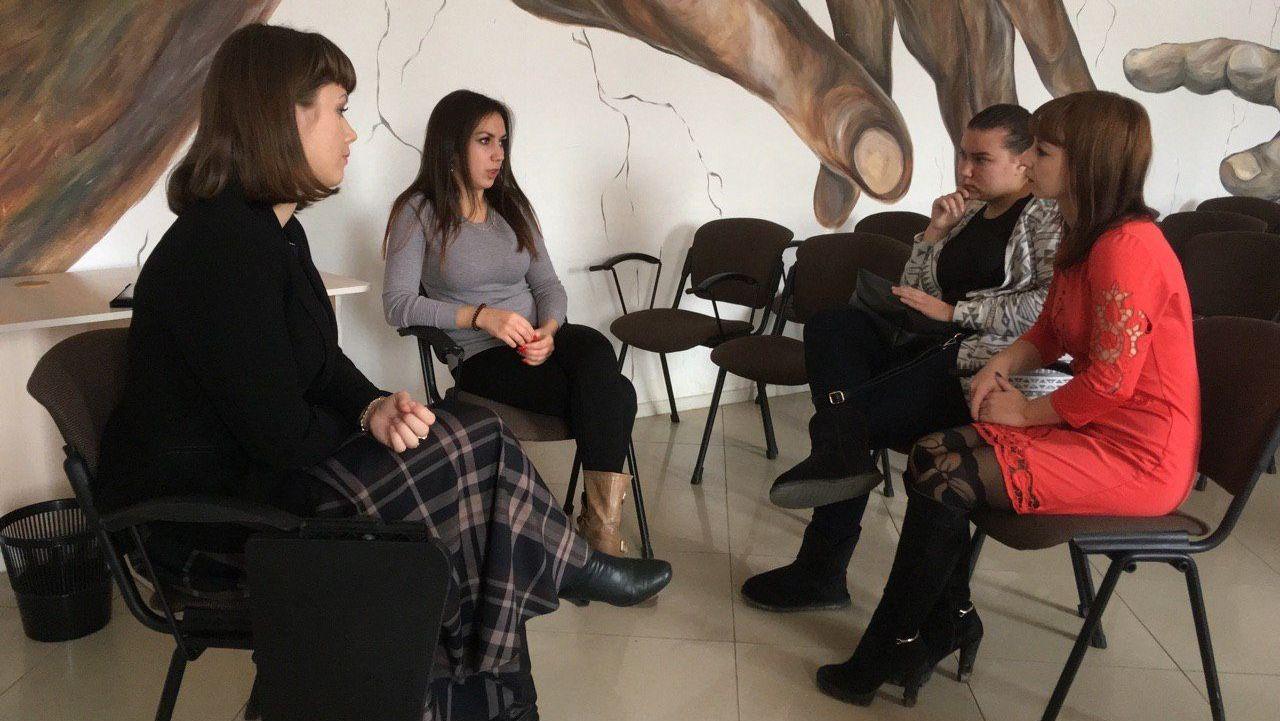 Донецкие активистки в Агентстве по делам молодёжи Астраханской области