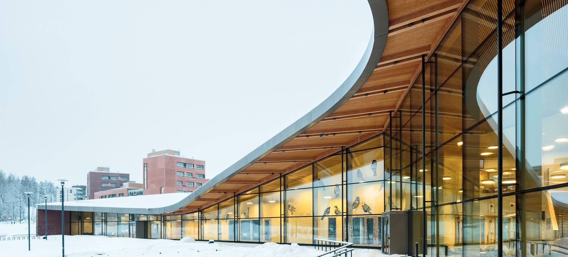 Школа Saunalahti (Фото: Туомас Уусхаймо)