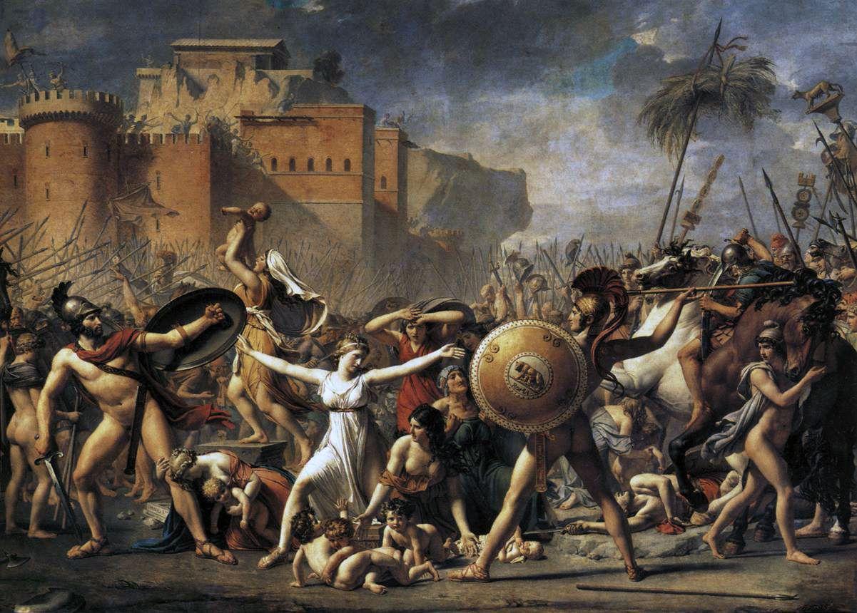 Жак Луи Давид. Сабинянки останавливающие битву между римлянами и сабинянами. 1799