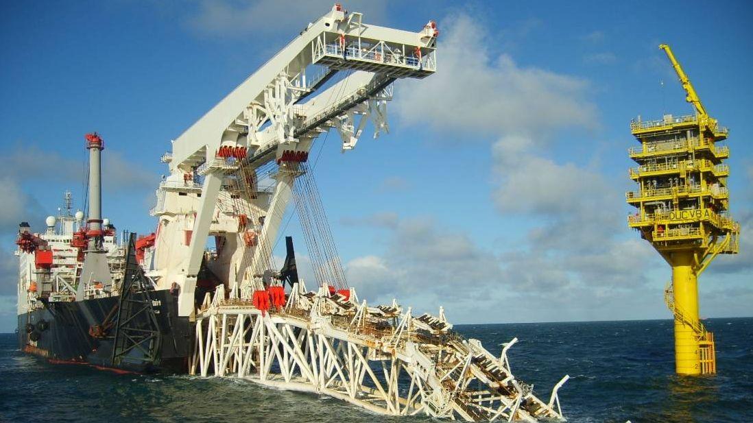 Строительство газопровода «Северный поток»,