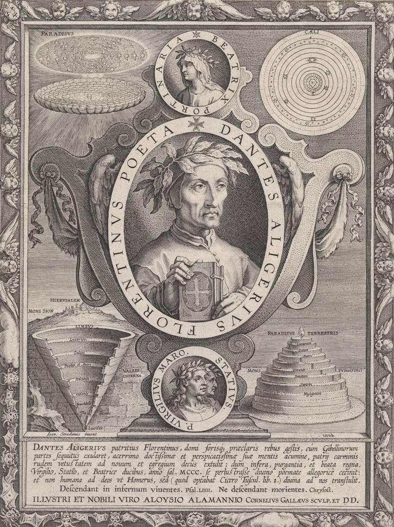 После Яна ван дер Страта (Страданус). Портрет Данте Алигьери. Ок. 1595