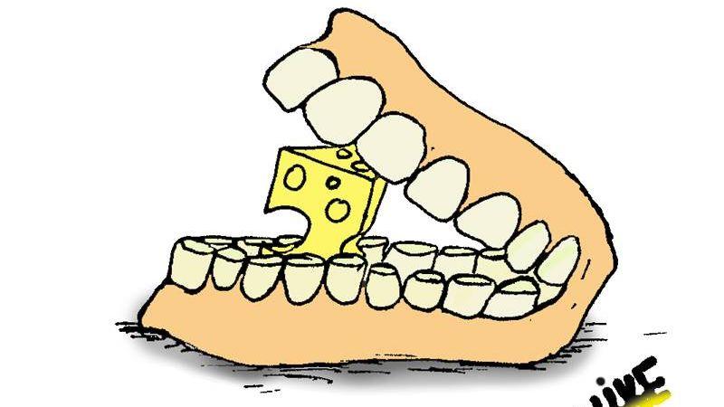 Челюсти с сыром как мышеловка