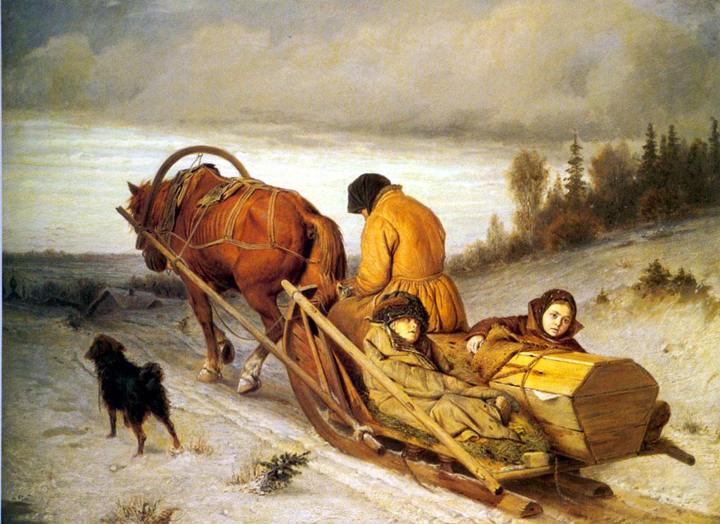 Василий Григорьевич Перов. Проводы покойника. 1865
