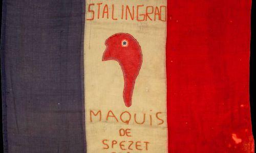 Знамя 2-го батальона «Сталинград» французских партизан