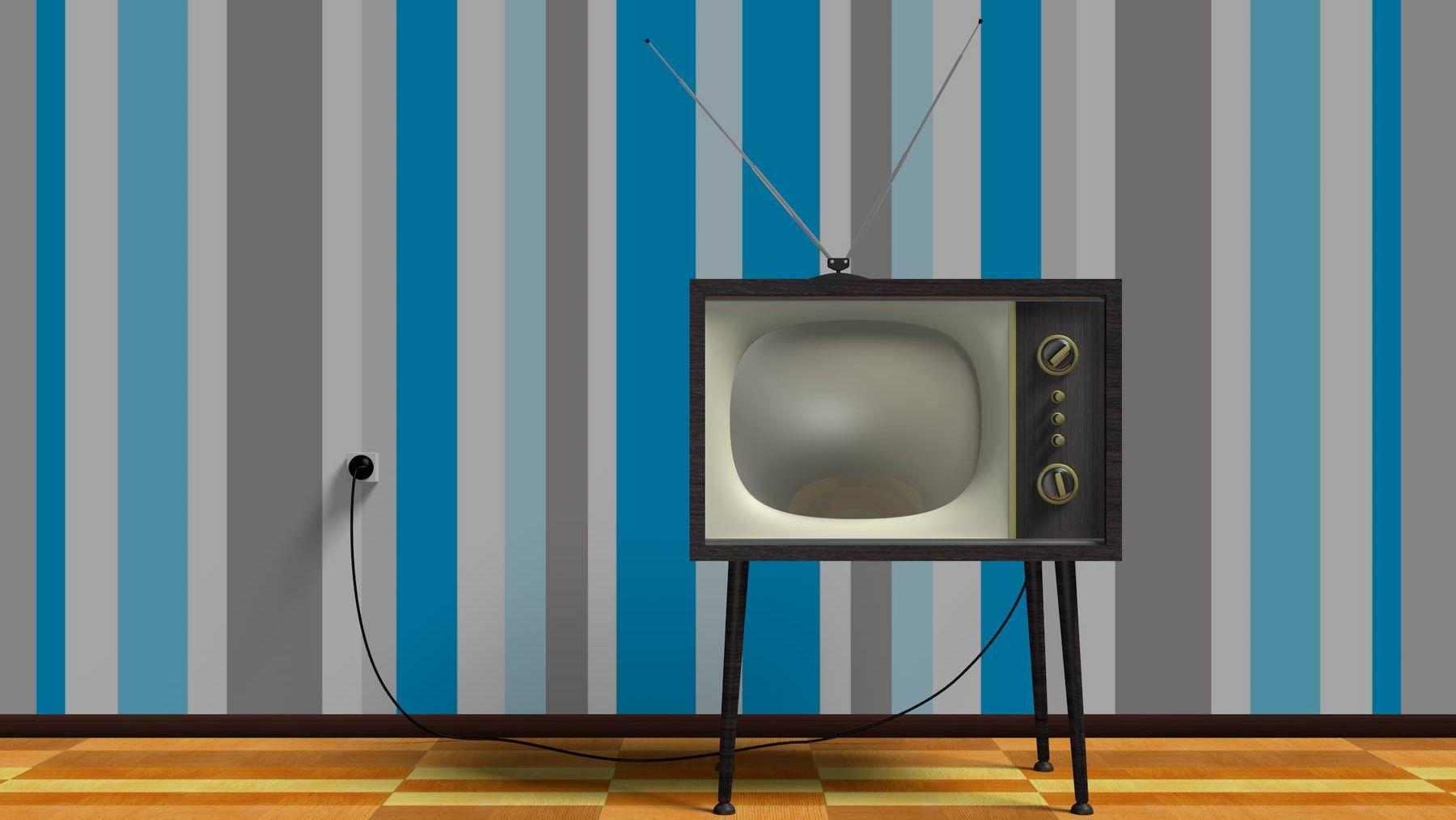 Старый телевизор выключен
