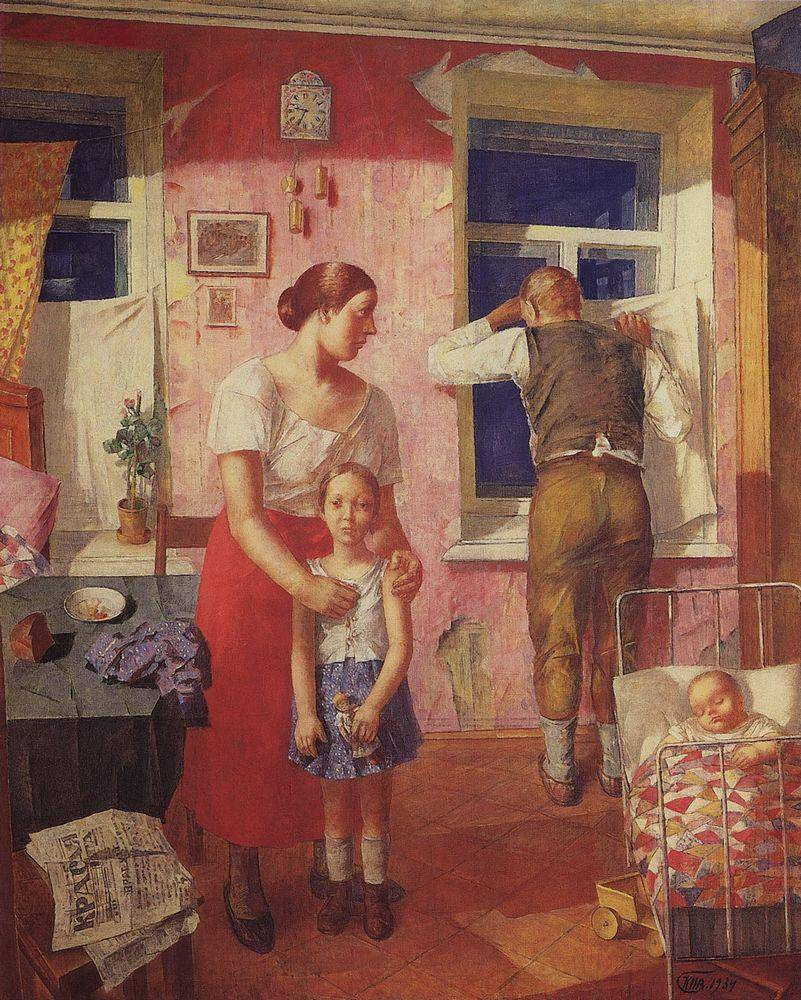 Кузьма Петров-Водкин. 1919 год. Тревога. 1934