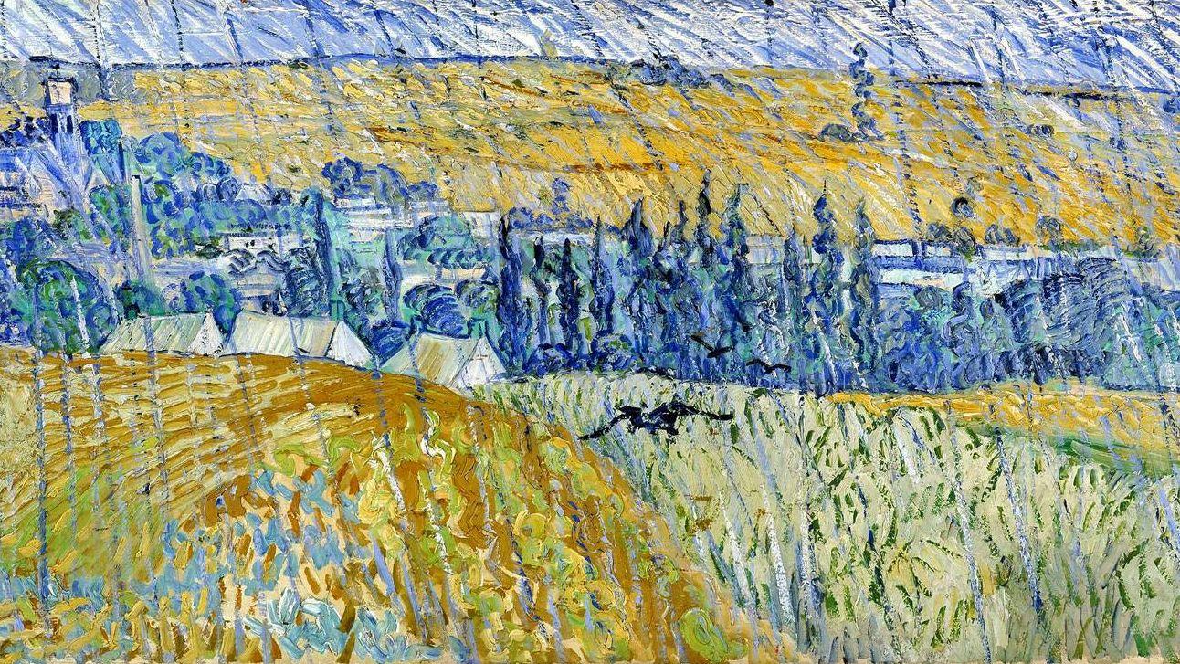 Ван Гог. Пейзаж в Овере в дождь. 1890